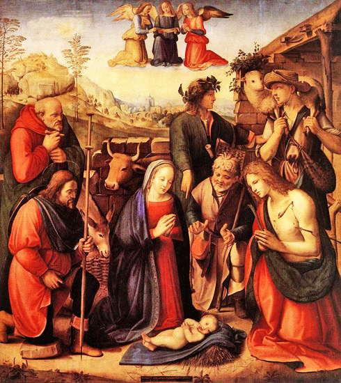 Adoration of the Shepherds by Ridolfo Ghirlandaio 1510