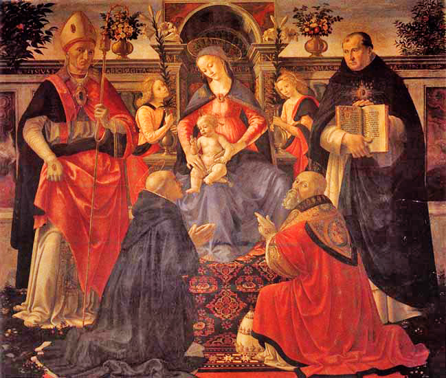 an analysis of the painting madonna enthroned with angels and saints by domenico ghirlandaio Domenico ghirlandaio madonna and child enthroned with saints (1479)   virgin and child with four angels painting by david gerard  -   2nkwlpj.