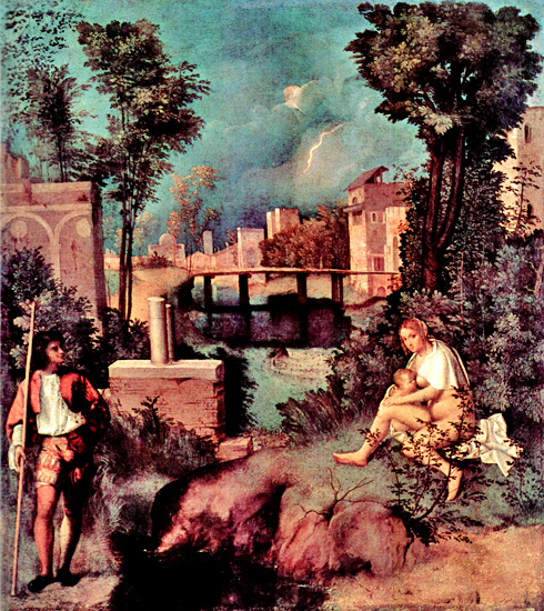 giorgione the tempest Founder of 16 century venetian painting, who has place among the biggest renaissance artists in history of art his works belong to the most problematical.