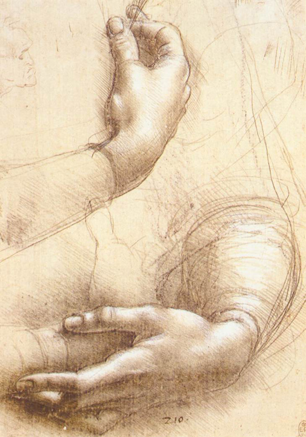 Leonardo da Vinci - Anatomical drawings - Hands