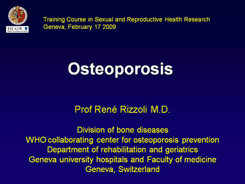 research paper on osteoporosis Osteoporosis affects the osteo-articular system however, there are hormonal,  kidney related, gastrointestinal and neuromuscular factors.