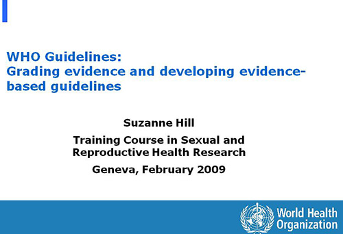 what are evidence based guidelines