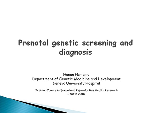prenatal genetic testing Get information that can help you make an informed decision about the different prenatal genetic testing options, which is right for you and your family, and why they are offered.