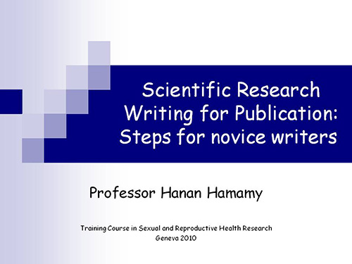standard scientific research and essays