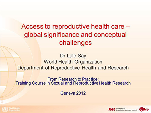 Repro Health & Rights