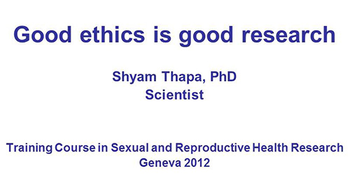 Ethics in research methodology