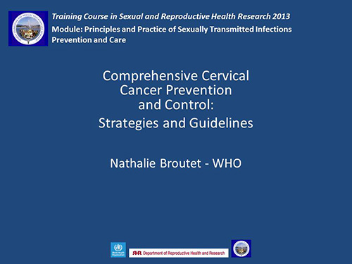 comprehensive cervical cancer control a guide to essential practice 2014